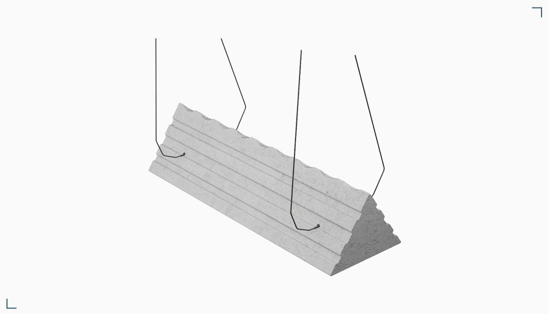 Podkładka z włóknobetonu – tunelowa z drutem BDDNV