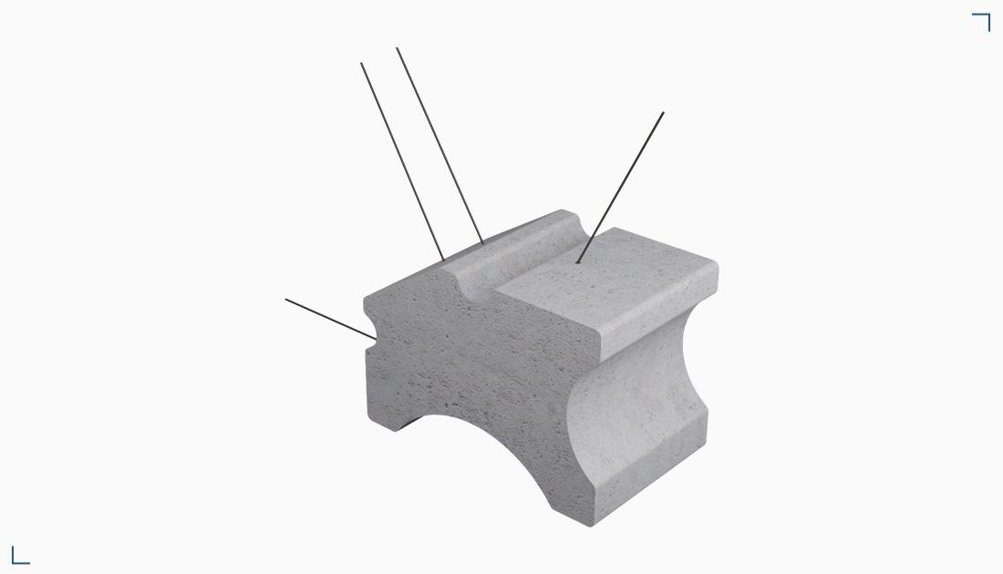 Podkładka z włóknobetonu – tunelowa z drutem BTA D